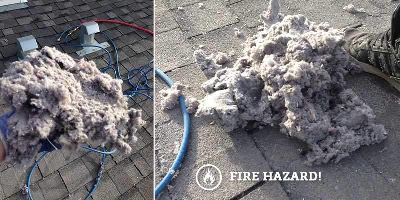 Dirty Dryer Vent - Fire Hazard